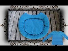▶ DIY ♔ Pullover Bett für Katzen und Hunde - Recycle Pet bed from a sweater - Video Tutorial Anleitung
