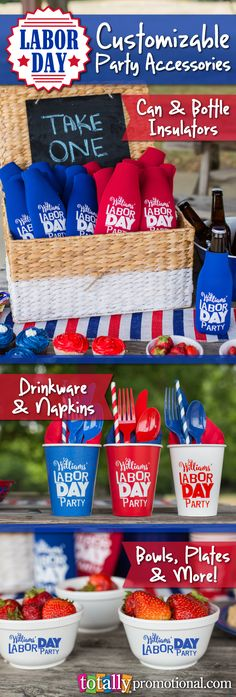 Make your Labor Day festivities an unforgettable one!  We offer #customizable party accessories and products in hundreds of styles, sizes & color options to compliment any party!  Select artwork from one of many design ideas or submit your own artwork, we'll make it work and totally for you!