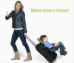 This is the BEST thing ever for travelling with small children.  We LOVE ours....and the company is great...kids travel stroller, airplane friendly stroller, baby travel systems : Ride-On Carry-On