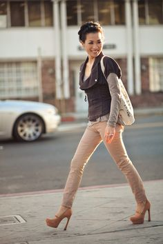I like this look esp the jacket and nude pumps....I enjoyed the post too...(Wendy Nguyen)