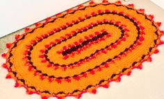 Tapete de Crochê Mostarda – Barroco Maxcolor