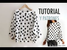 Costura: Blusa de lunares para mujer (patrones gratis) | Oh, Mother Mine DIY!! - YouTube | Bloglovin'
