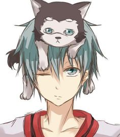 Kuroko no Basket. OMG so adorable Kuroko and Kuroko #2. They are the same!!!!!!!