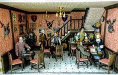 4 Colores Mochila Bolso de Hombro Accesorios De Casa De Muñecas En Miniatura Artesanía Decoración del hogar
