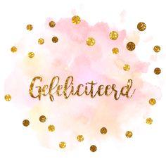 Felicitatiekaarten - feestelijke felicitatiekaart met confetti