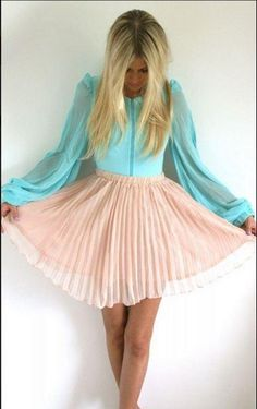 Not so sure about the shirt but the skirt I am in love with!