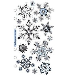 Sticko Vellum Stickers-Snowflakes