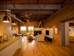 I love homes in old warehouses!