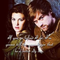 BBC Robin Hood. Lyrics: The Band Perry, Better Dig Two.... They had to both die... he couldn't live without her! And better dead than with Kate. :(