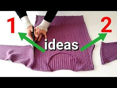 ESKİ KAZAK İLE SÜPER İKİ FİKİR - YouTube Old Sweater, Sweaters, Alter Pullover, Sock Dolls, Skin Tag Removal, Diy Crafts Hacks, Creative Embroidery, Youtube, Crochet Fashion