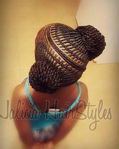 Creative cornrow hairstyle                                                                                                                                                                                 More