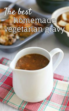 The best homemade vegetarian gravy - with a secret ingredient that adds HEAPS of flavour! You won't miss the meat juices :) Perfect for a vegetarian Christmas dinner, Sunday roast, or any other Meat Free Monday!
