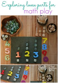 Reggio inspired math games--- Exploring math concepts with these simple and easy centers Preschool Math Games, Counting Activities, Homeschool Math, Kindergarten Math, Fun Math, Childcare Activities, Number Activities, Preschool Ideas, Early Years Maths