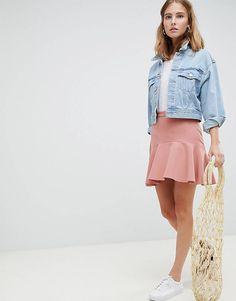 Discover the latest skirts with ASOS. Shop a variety of styles including denim and leather skirts, plus midi and maxi lengths. Order now with ASOS. Flared Mini Skirt, Mini Skirts, Pencil Skirts, Asos, Moda Online, Fit And Flare, Denim Skirt, Fashion Online, Clothes For Women