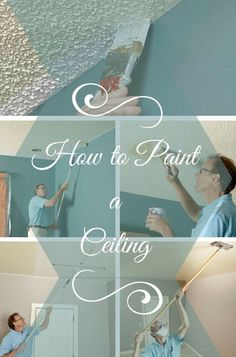 how to paint a ceiling - a professional home painter shares his tips for painting both smooth and textured ceilings, with equipment recommendations and tricks of the trade.