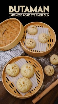 "Hi guys! Today I'm gonna hare my Japanese Pork Buns recipe, Butaman! Usually Japanese pork buns called Nikuman (Meat buns) but the one I had in Love, Japan was called ""Butaman""! Niku means meat and Buta means pork. I do have Chinese BBQ pork buns recipe,"
