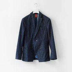Joel Tailored Denim Jacket by Frenn Denim Blazer, Nerd, Suit Jacket, Jackets, Collection, Tops, Fashion, Down Jackets, Moda