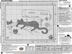 Schema punto croce Gatto Nero Cucito2