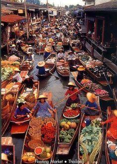 Floating Market , Thailand.