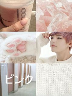 pastel, pink, and v