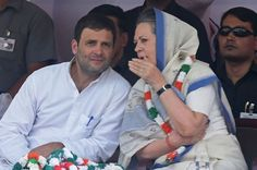 Indian Congress Party vice-president Rahul Gandhi (L) and Congress President Sonia Gandhi talk during a rally in New Delhi on April Education System In India, Gabbar Singh, First Prime Minister, Sonia Gandhi, Political Culture, Big Cats Art, Indira Gandhi, Sanskrit Words, India First