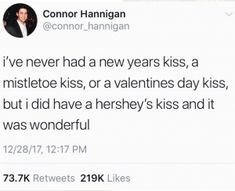 I haven't even had a fucking Hershey's kiss fuck my life Funny Tweets, Funny Quotes, Funny Memes, Jokes, Haha Funny, Hilarious, Funny Stuff, Funny Things, Literally Me