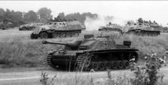 German StuG 40 Ausf.G and halftracks...