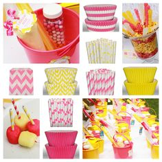 Pink Lemonade Party Items - shopsweetsandtreats.com