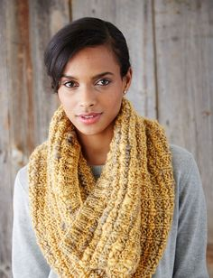 Yarnspirations.com - Patons Cushiest Cowl - Patterns  | Yarnspirations