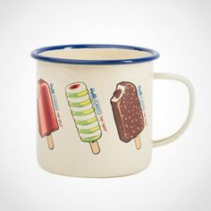 Featuring a host of happy images from summers of yesteryear, Wall's retro mug is a must for your picnics, camping and beach trips. Walls Ice Cream, Ice Cream Brands, Happy Images, Summer Patterns, Beach Trip, Summer Days, Kitchenware, Retro Fashion, Coffee Cups