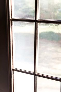 The Best Trick for Painting French Doors - Bless'er House Painting Trim, Drip Painting, House Painting, Spray Painting, Exterior Trim, Exterior Paint, French Doors Patio, Peeling Paint, Black Doors