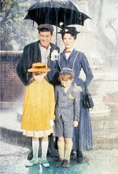 *BERT, MARY, JANE & MICHAEL ~ Mary Poppins, 1964....I Dream of Disney