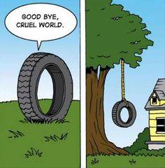Goodbye, cruel world