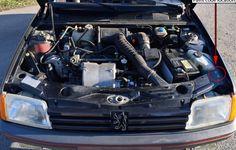 INFO GUIDE: 1987 - 1990 Peugeot 205 GTI Phase 1.5 (1.9l) | classicregister Renault 5 Gt Turbo, Yorkshire Uk, Final Drive, Engine Block, Belt Drive, Grey Carpet, Rear Brakes, Manual Transmission, Grey Leather