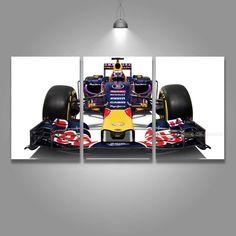 3 Panel Canvas Art Print Formula F1 Race Car Red Bull Wall Art Framed UNframed