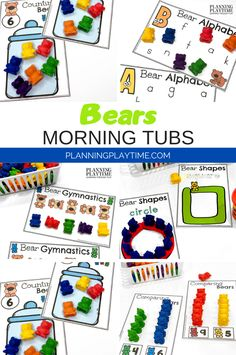 Looking for fun Morning Tubs for kids? Check out these 8 Hands-On Bear themed activities for Preschool or Kindergarten.