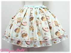 Melty Cream Donut Skirt (Mint)