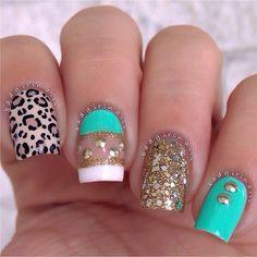 Cheetah nails  @ badgirlnails