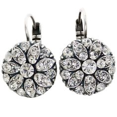 Mariana Silver Plated Flower Blossom Swarovski Crystal Earrings, On A Clear Day 1029 001001. Available at www.regencies.com
