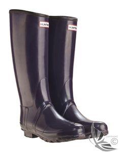 Hunter Ladies' Regent Neoprene Wellington Boots - Aubergine