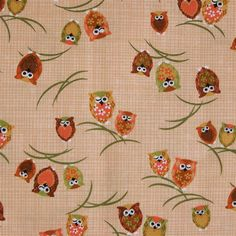 Japanese cotton prints  1 yard of peach Winking by kallistiquilts, $14.50