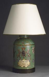Lord Arundel Medium Tea Caddy - Handpainted Tin $2,120.00 (USD).  Product in photo is from www.wellappointedhouse.com