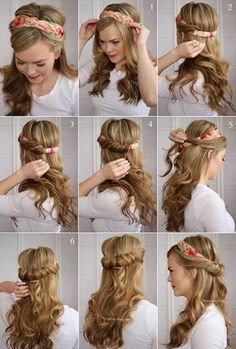 easy hairstyle for long hair,  lazy styling hacks
