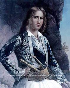 Greece History, Greek Art, Folk Costume, 19th Century, Portrait, Retro, War, Paintings, Fictional Characters