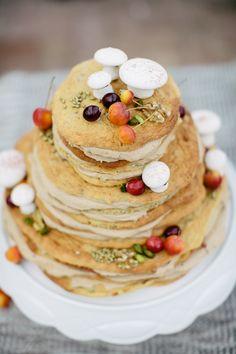 Pancake wedding cake / Carmen and Ingo Photography