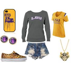 """LSU Game Day"" by studiocicada on Polyvore"