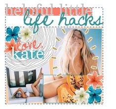 """""""☽ HELPFUL LITTLE LIFE HACKS ・ KATE"""" by syzygy-tips ❤ liked on Polyvore featuring art and kateetipss"""