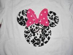 Damask Minnie Mouse t=shirt
