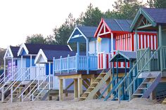 Lovely picture of the beach huts at Wells in winter | Escape Artistes
