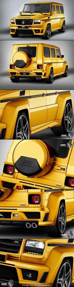 Mercedes-Benz G-Class GSC Look Fast with GoldStorm Package.